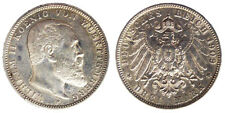 3 MARK 1909 F WUERTTEMBERG GERMANIA GERMANY ARGENTO SILVER #6592A