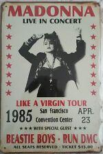 Madonna Like A Virgin Tour Retro Vintage Metal Sign Home Garage Workshop Pub