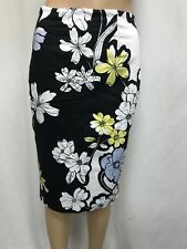 PORTMANS SIZE 8 FLORAL ZIPPERED BACK PENCIL SKIRT