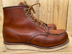 Red Wing #875 Classic Moc-Toe Work Brown Leather USA, Sz- 6.5 E