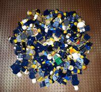 10 Lego Polizei Figuren Räuber Diebe Police Officer City Minifig Polizisten Blau