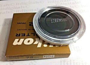 Genuine Nikon 72mm NEUTRAL DENSITY ND4 ND4X Lens Filter Japan 72 mm OEM FTA15801