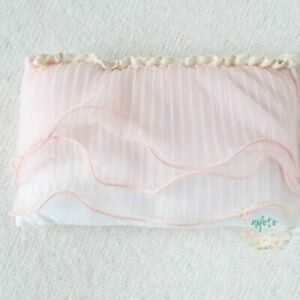Unisex Newborn Pillow for Photography Props Background Floral Design with Lace