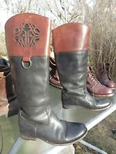 Frye Women's Melissa Logo Knee High Riding Boots 76436 / Us 7.5 B / Pre-owned