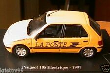 PEUGEOT 106 ELECTRIQUE 1997 MUSEE DE LA POSTE1/43 NOREV EDITIONS ATLAS YELLOW