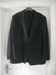 """Mens Black Tuxedo Jacket 44"""" Chest 44R St Michael M&S Blazer Suit Jacket"""
