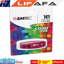 Genuine EMTEC C410 16GB USB 2.0 Flash Pin Drive Thumb Memory Stick Colour Red LF