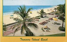 postcard   USA Florida  Treasure Island Beach on the gulf of Mexico   unposted