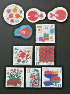 JAPAN USED 2017 WHERES THE FISH ? 10 VALUE VF COMPLETE SET SC# 4179 a - j