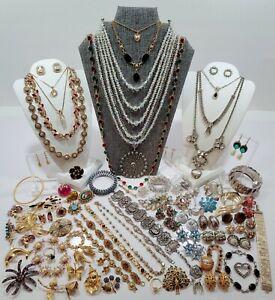 Vtg Estate Costume Jewelry Lot. Necklaces, Brooches, Bracelets, Designers, etc.