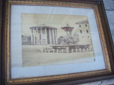 LOT OF 3 ANTIQUE ALBUMEN SILVER PHOTOGRAPHIC PRINTS OF ROME 1860