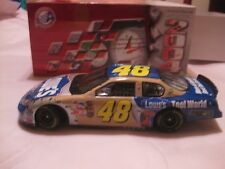 Rare LE Nascar #48 Jimmie Johnson Lowes In A Tan & Blue 124 Scale Diecast  dc596