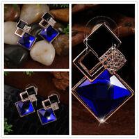 Charme Diamant Ohrringe Frauen Kristall Geometrische Geschenk Schmuck Creol L5V3