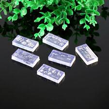 Molde Acrílico 3D para Arte en Uñas Puntas Decoración Molde De Silicona Conjunto caliente 6Pcs Kit de manicura