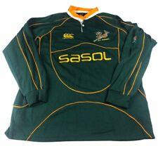 Vintage Canterbury CCC SASOL SA South Africa Rugby Shirt Mens XXL 2XL
