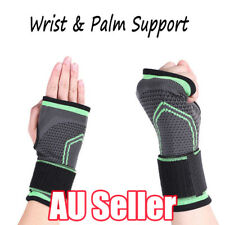 Wrist & Palm Support Guard Brace Band Sports Gym Carpal Tunnel Pain Relief Strap