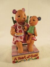 """Jim Shore Heartwood Creek 2007 """"You Have a Heart of Gold"""" Teddy Bears 4009906"""