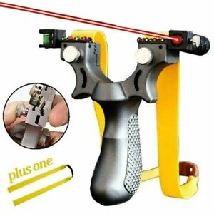 Catapult Solid Resin Slingshot with 2 Rubber Band Hunting Slingshot Laser