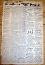 1821 Providence Rhode Island newspaper w large DENTIST Toothache remedy ad TEETH