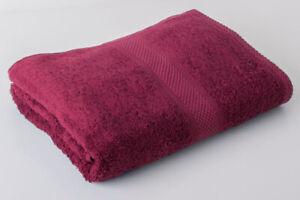 12 x Burgundy Luxury 100% Egyptian Cotton Hairdressing Towels Salon 50x85cm