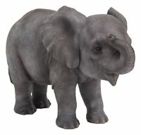 Elephant Baby - Lifelike Ornament Gift - Indoor or Outdoor - Zoo Pet Pals NEW