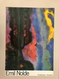 EMIL NOLDE, 'DAMMERSTUNDE',TWILIGHT, RARE AUTHENTIC 1988 ART PRINT