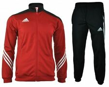 Abbiglimento sportivo da uomo adidas rosso in poliestere