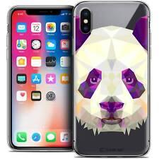 Coque Housse Etui Pour iPhone X (10) Polygon Animal Souple Fin Panda