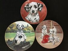 Lot of 3 Collectors Dalmation / Firehouse Plates by Linda Pickens & Jim Lamb