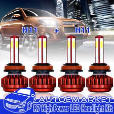 4x H11+H11 Combo 800W Kit LED Headlight Bulb Hi Lo Beam For Nissan Altima Sentra