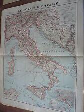 Carte, Le Royaume d' Italie, , 1918,