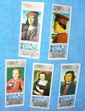Yemen (Republic) ~ Superb Set of 5 Giant-sized  Stamps ~ Famous Paintigs 1969.