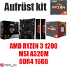 PC Bundle Kit Set ❤ AMD Ryzen 3 1200 ✔ MSI A320 Mainboard ✔ DDR4 16GB ✔