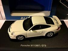 AUTOART 57908 PORSCHE 911 (997) GT3  1/43 SCALE WHITE VERY RARE