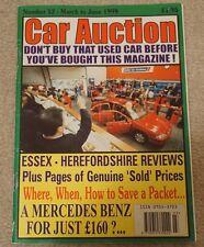 Asta PER AUTO MOTORE commercio AUTO USATE MAGAZINE MARZO GIUGNO 1999 Essex Herefordshire