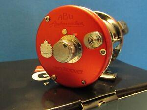 AMBASSADEUR 6500CS PRO ROCKET RED ABU GARCIA REEL NEW MINT IN BOX!!