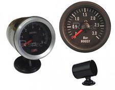 Noir Diesel 52mm tacho Rev Gauge et 52mm Diesel boost gauge bar et titulaires