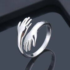 Silver Party Rings Fashion Open Ring Gift Love Hug Rings for Men Women Gold