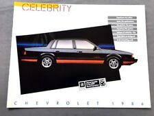 1986 chevrolet celebrity and eurosport canada car sales brochure folder