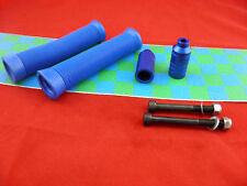 Blue Scooter Grips + Firewheel-inc Blue Grind Pegs + Grip Tape