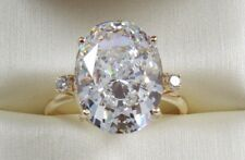 9.50TCW OVAL Cut  VVS1 Engagement Wedding Solitaire Ring 14K Solid Yellow Gold