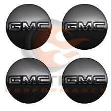 2014-2018 GMC Sierra Yukon Genuine GM Gloss Black Center Cap Set Of 4 19333200