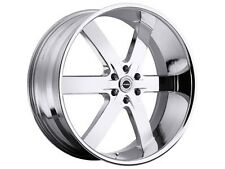 "24"" U2 55S-BW CHROME Wheels  24x10 6x139.7 et 13  hub 78.1 LOT OF 4"