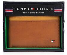 NEW TOMMY HILFIGER MEN'S LEATHER DOUBLE BILLFOLD ID WALLET HONEY TAN 31TL130014