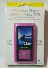 """Ematic MP3 Video Player w FM Tuner & Recorder PINK 1.8"""" 8GB Storage Electronic"""