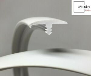 15mm White T Trim Single Lip Knock on Edging for Furniture Board