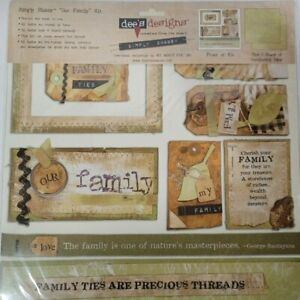 NEW Dees Designs Simply Shabby Our Family Pack Paper Kit NEW 12x12