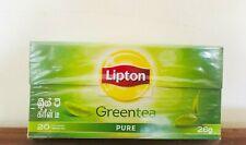 Lipton Green Tea 100% Natural & 20 bags Sri Lankan Best Pure Tea