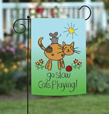 NEW Toland - Cats Playing - Go Slow Children Kid Kitty Safety Garden Flag