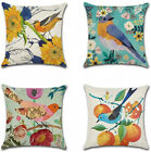 (Retro Flowers and Birds) - Artscope Set of 4 Decorative Throw Pillow Covers